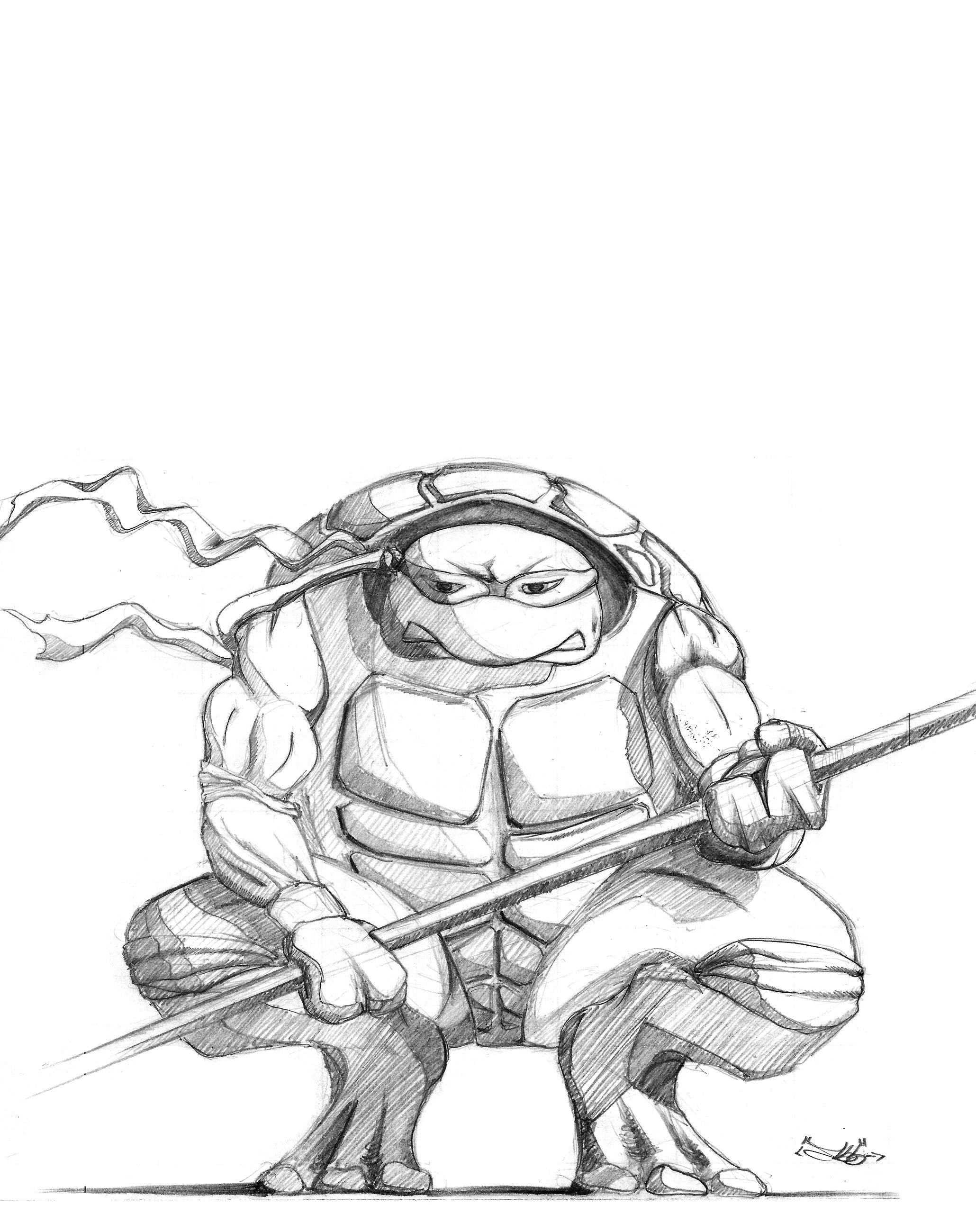 ninja turtles donatello coloring pages